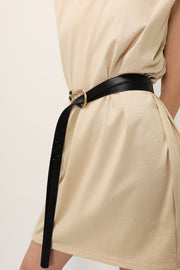 Double Strap Pleather Belt