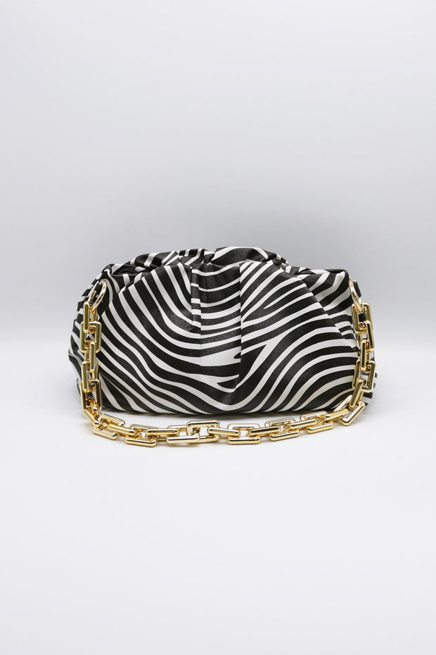 Zebra Printed Chain Bag
