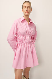 storets.com Allie Ruched Shirt Dress