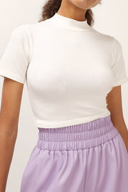 Abigail High Neck Cropped Top