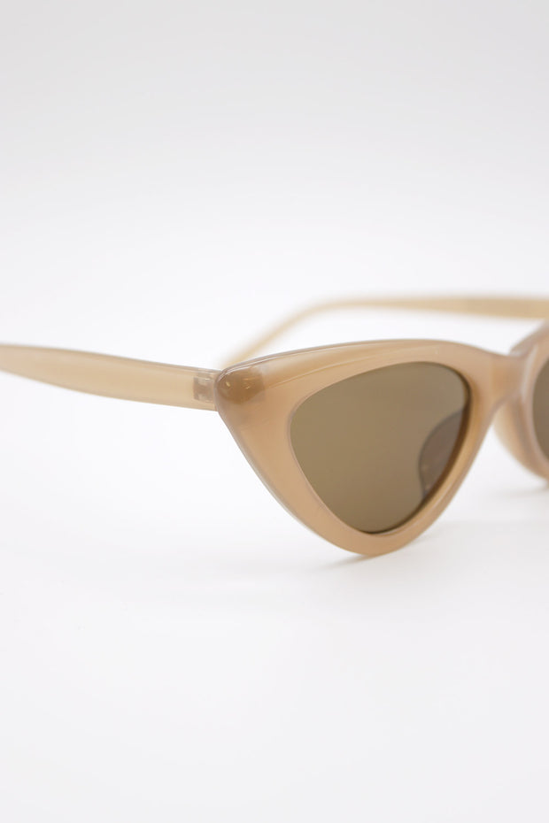 Brown Frame Cateye Sunglasses