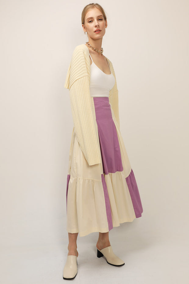 storets.com Lyla Color Block Maxi Skirt
