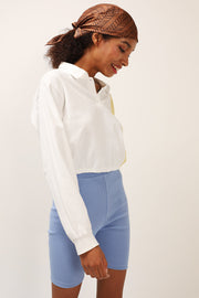 storets.com Hazel Color Block Crop Shirt