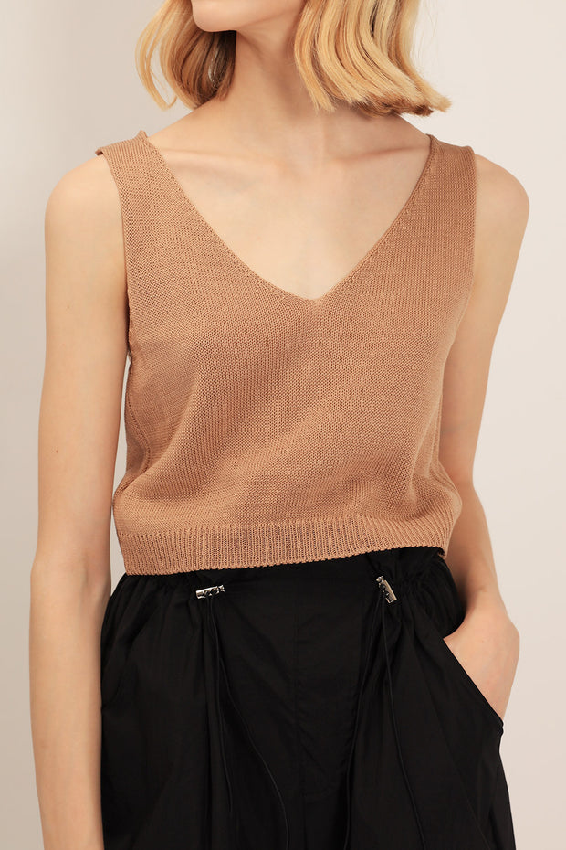Georgia Knitted Crop Top