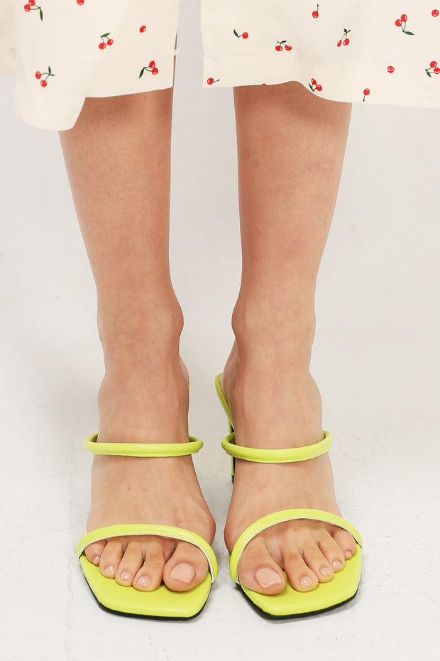 Two-Strap Square Toe Heels