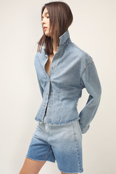 storets.com Angelica Pintuck Denim Jacket