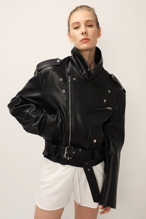 Emma Pleather Rider Jacket