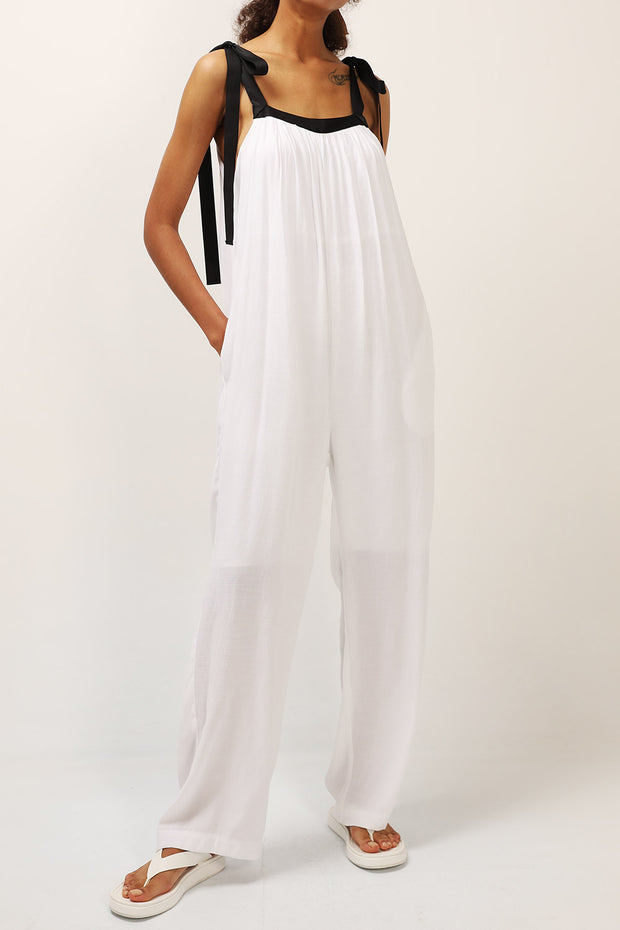 storets.com Thea Tie Up Shoulder Jumpsuit