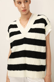 storets.com Brynlee Striped Knit Vest