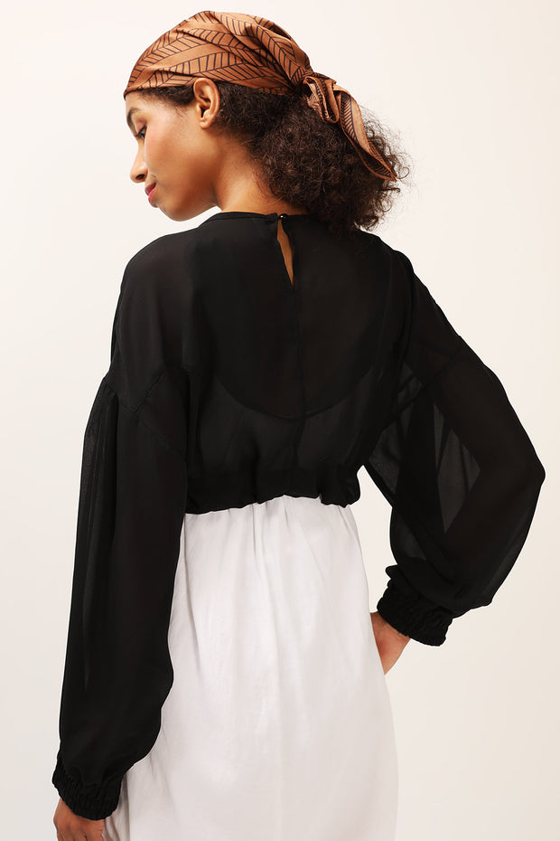 storets.com Elle Sheer Cropped Top