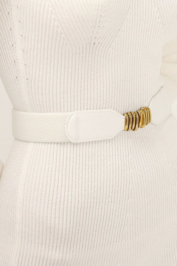 storets.com Golden Buckle Elastic Belt