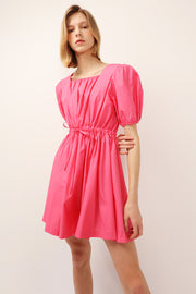 Julie Puff Sleeve Sweetheart Dress