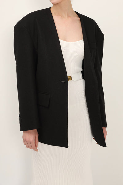 storets.com Zoe Oversized Collarless Jacket