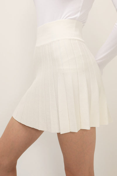 storets.com Alice Pleated Knit Skirt