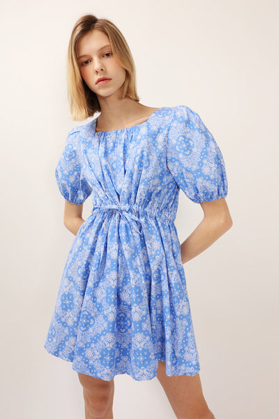 Anne Printed Puff Sleeve Dress