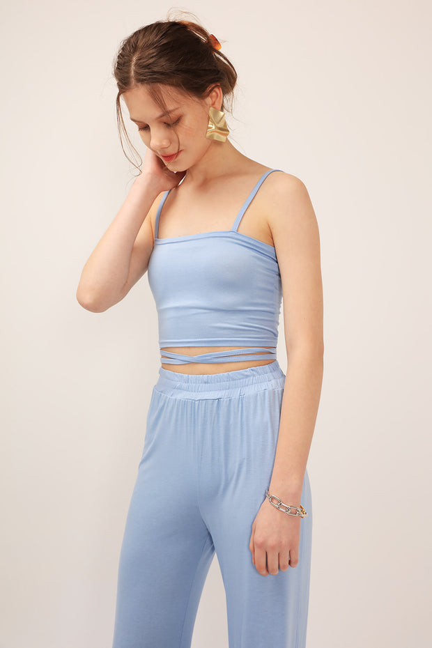 Bella Tie-Detailed Crop Top