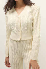 storets.com Mabel Fisherman Knit Cardigan