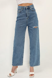 storets.com Aviana Slash Cutout Jeans