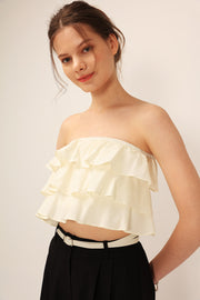 Bella Ruffled Tube Top