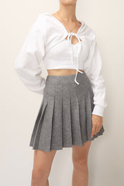 storets.com Elle Pleated Skater Skirt