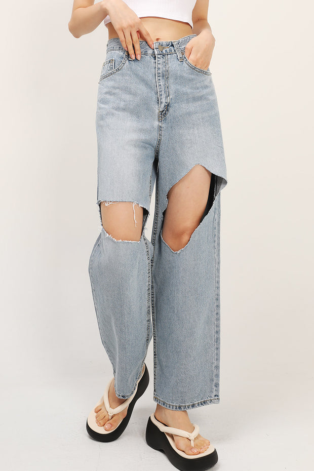 Blakely Slash Cutout Jeans