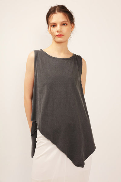 Sophie Asymmetric Sleeveless Top