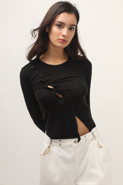 storets.com Christina Asymmetric Button Top