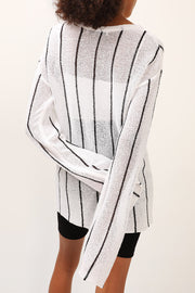 storets.com Harper Striped Knitted Top