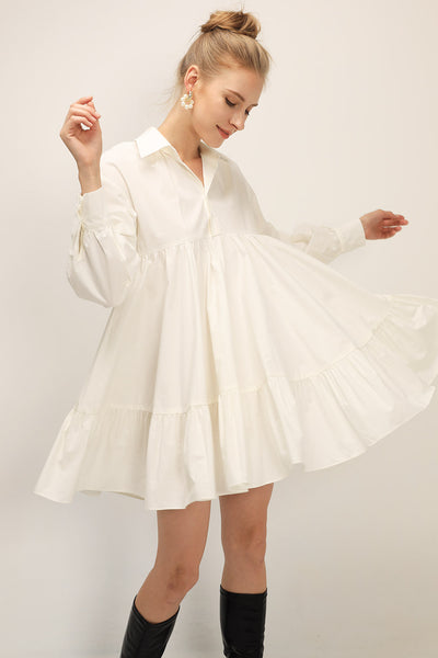 storets.com Diana Tiered Shirt Dress