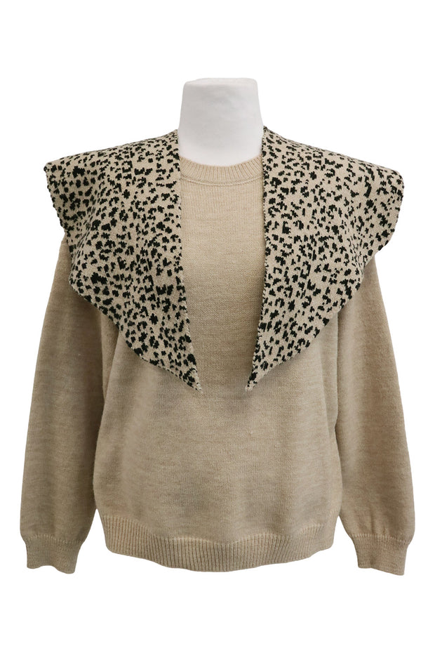 storets.com Piper Leopard Shawl And Sweater Set