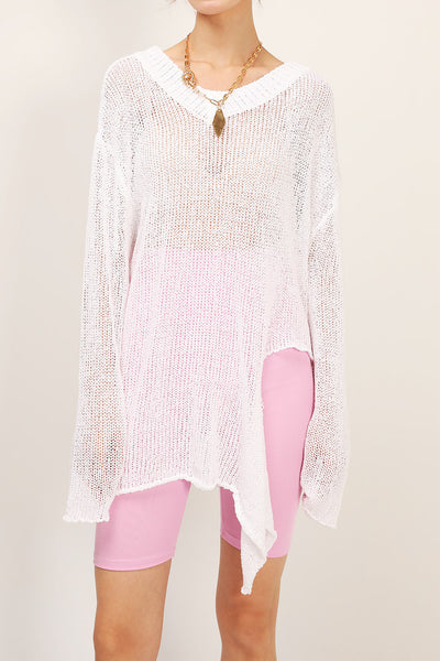 Charlie Asymmetric Neck Cutout Sweater