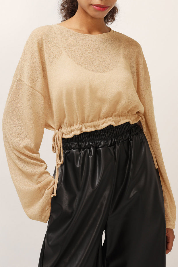 storets.com Remi Sheer Cropped Top