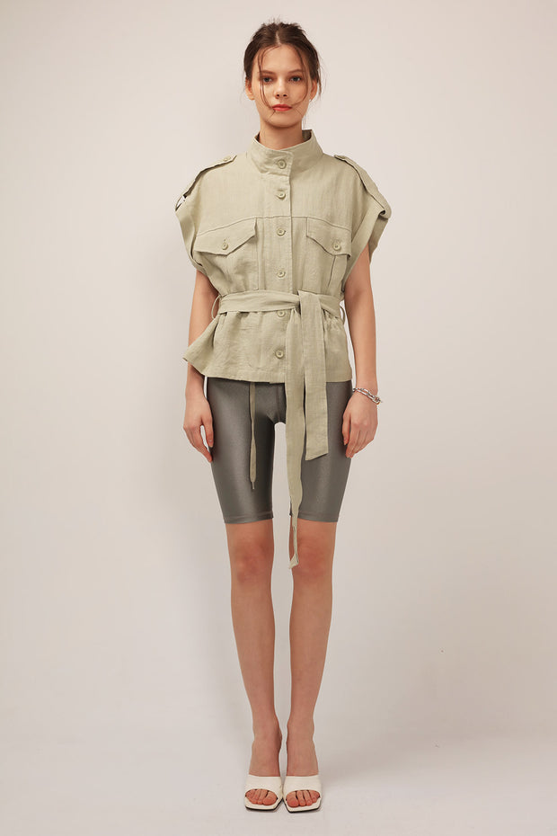 Eleanor Linen Safari Jacket