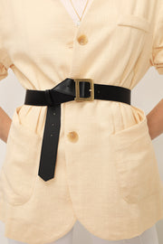 Golden Buckle Pleather Belt