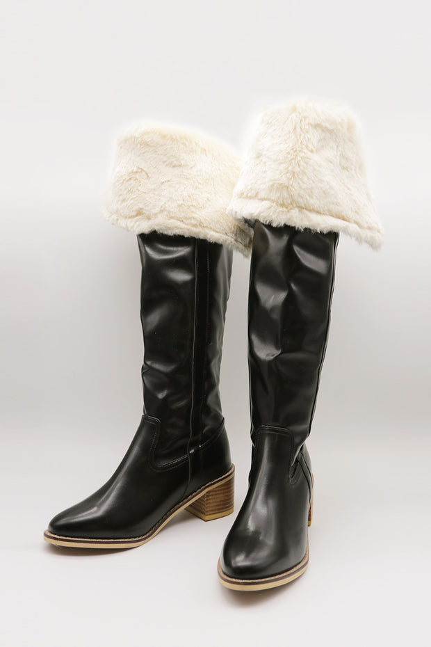 Fold Over Fur Boots