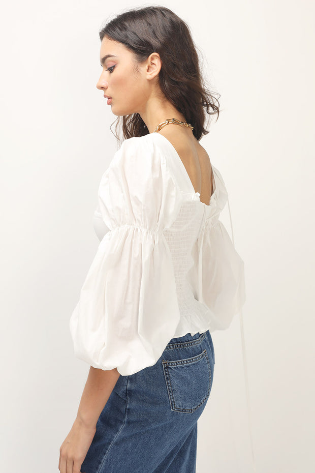 storets.com Veronica Puffed Sleeve Blouse