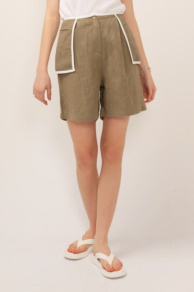 Ivy Contrast Trim Pocket Shorts