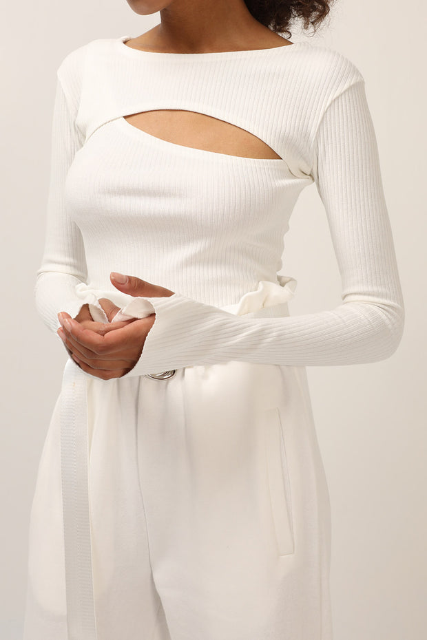 storets.com Liz Ribbed Cutout Top