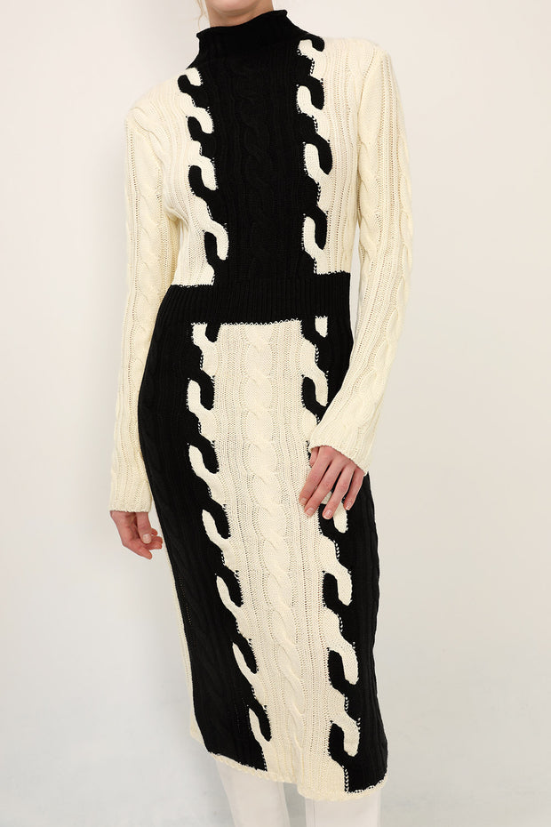 storets.com Gianna Color Block Knit Dress