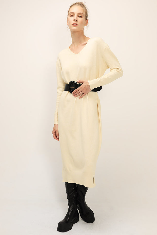 storets.com Sophia V-neck Long Dress