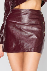 Ianna Pleather Skirt