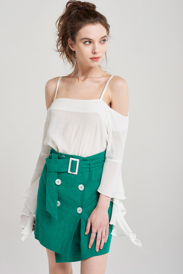 Aria Bonbon Button Skirt