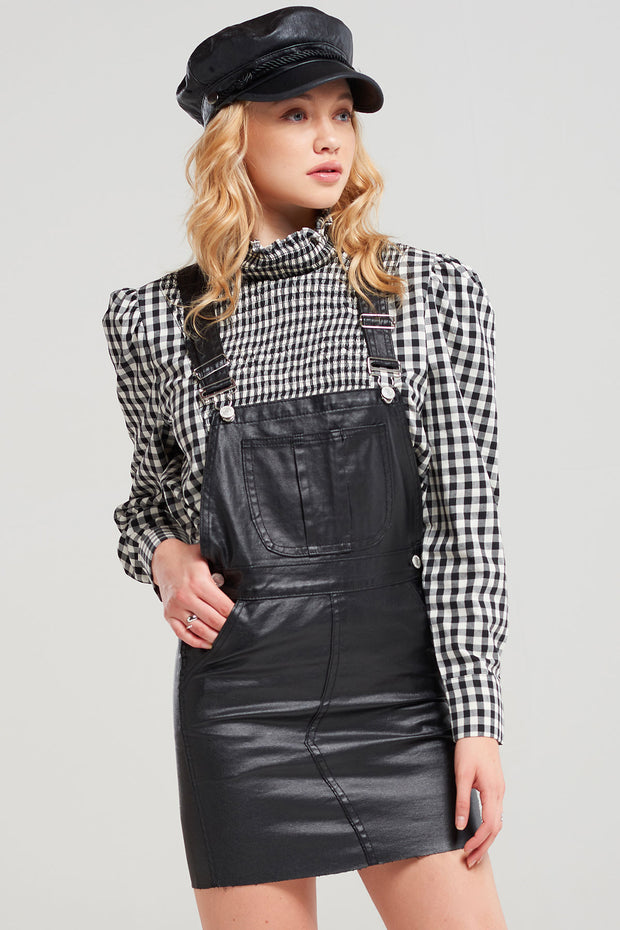 Taylor High Neck Gingham Blouse