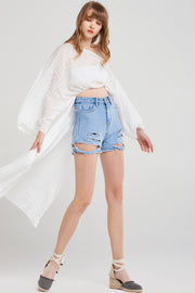 storets.com Mary Rib Ripped Shorts