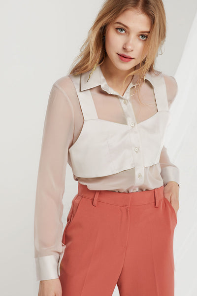 Jenine Bustier Sheer Shirt