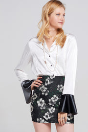 Joanna Metallic Flower Skirt