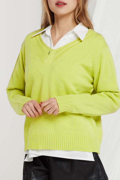 Jessy V-Neck Knit Jumper