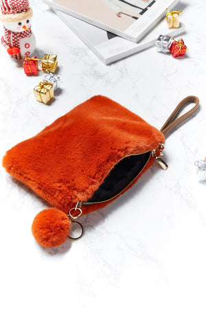 Jocelyn Furry Makeup Bag
