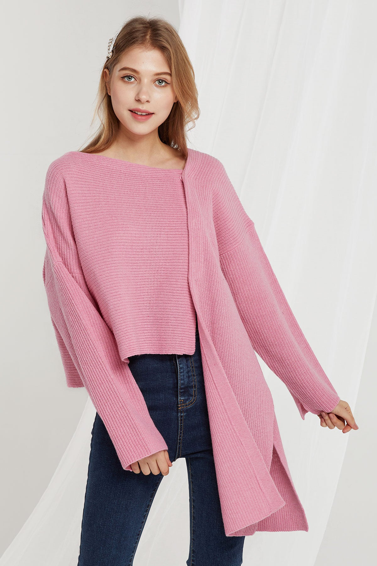 Juliana Asymmetric Knit Cardigan