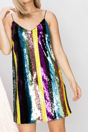 Kayla Rainbow Stripe Dress